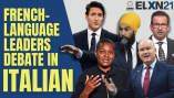Watch the French-language federal election leader's debate – in Italian